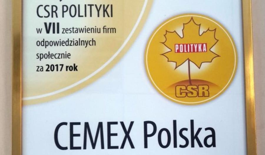 Złoty listek CSR dla CEMEX Polska