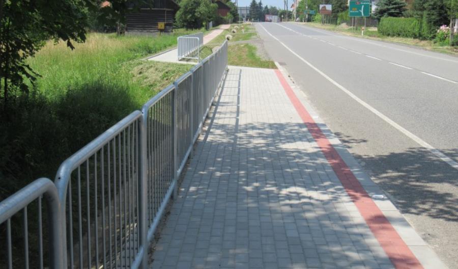 Małopolska. Powstają chodniki wzdłuż DK-75