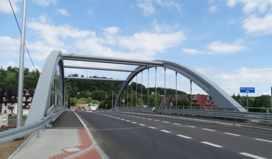 Most w Białym Dunajcu na Zakopiance gotowy