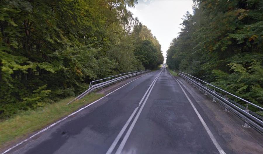 Most na drodze wojewódzkiej nr 206 przy Polanowie