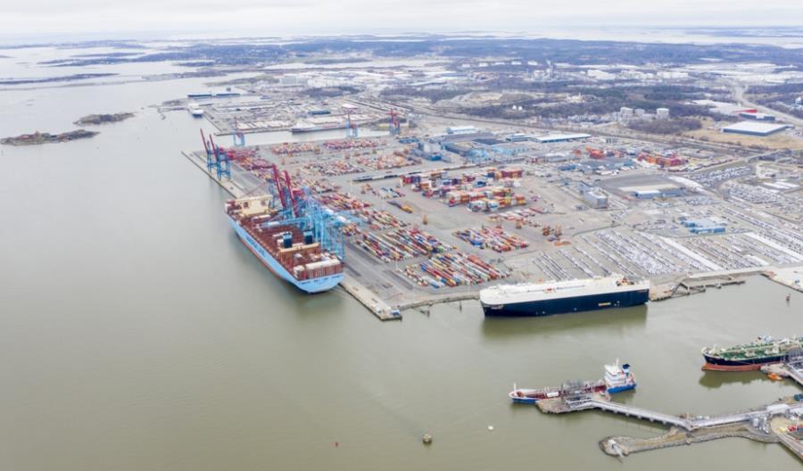 Port w Göteborgu magazynuje towary w terminalach z powodu pandemii