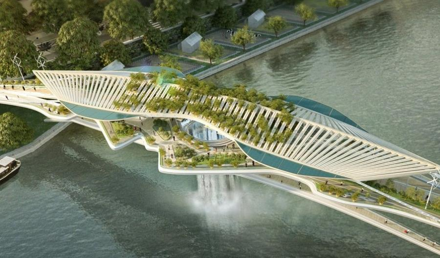 Most z wodospadem nad Sekwaną. Są wizualizacje paryskiego obiektu