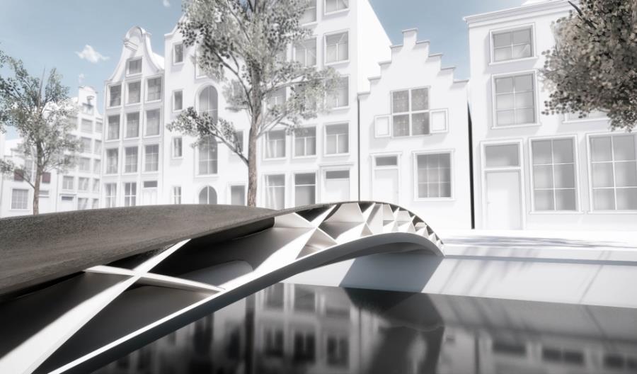 W Rotterdamie zamontują most z recyklingu wydrukowany w 3D