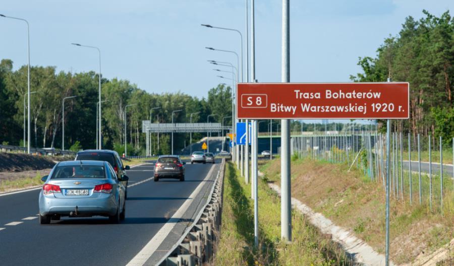 S8 nazwana Trasą Bohaterów Bitwy Warszawskiej 1920 r.