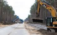 Trwa rozbudowa drogi wojewódzkiej w ciągu Toruń - Płock