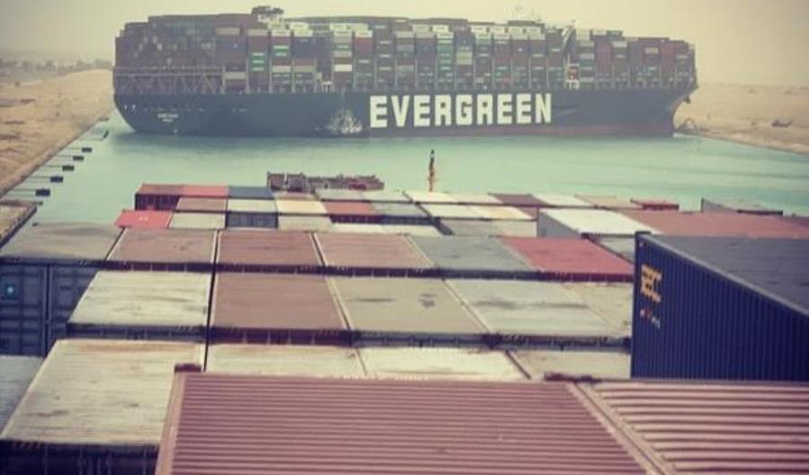 Blokada Kanały Sueskego. Przyczyną był zły manewr kapitana statku