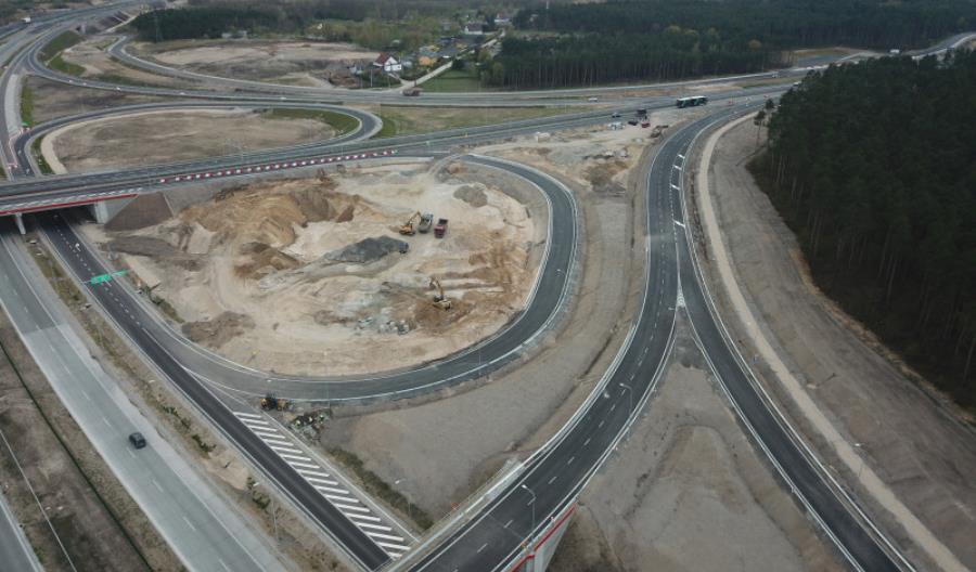 Węzeł Bydgoszcz Zachód na S5 kompletny. Łącznice otwarte