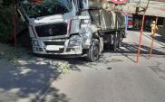 Ciężarówka doprowadziła do zawalenia wiaduktu na linii kolejowej 368 w Sierakowie