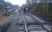 Postępują prace przy budowie łącznicy kolejowej do lotniska Szczecin-Goleniów