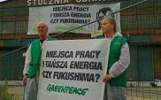 Akcja Greenpeace w Stoczni Gdańskiej