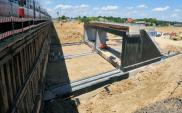 Zachodnia obwodnica Lublina: Połowa wiaduktu kolejowego na miejscu