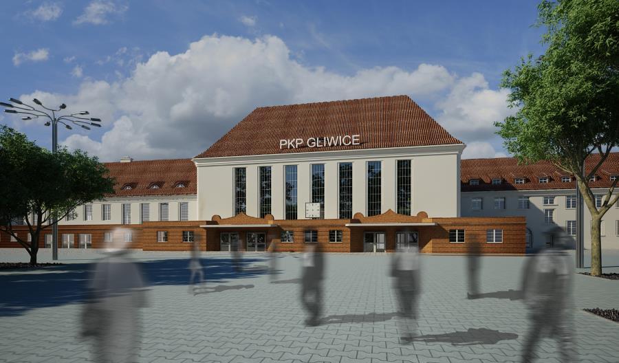 Trwają prace przy budowie nowego dworca w Gliwicach