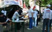Związkowcy z branży morskiej protestują w Szczecinie