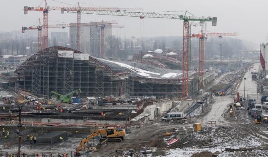Na dworcu Łódź Fabryczna rozpoczął się montaż pierwszych torów