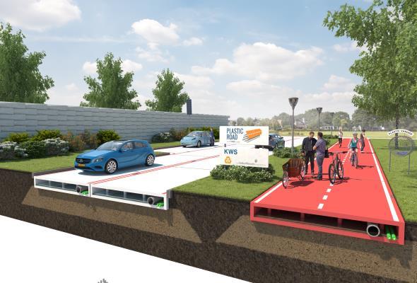 Holenderska firma chce budować drogi z plastiku
