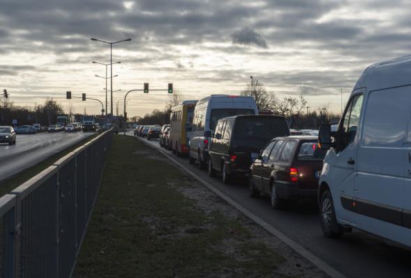 Miliony pojazdów na warszawskich drogach