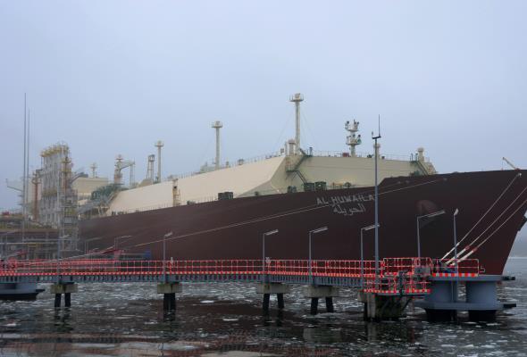 Do terminalu LNG w Świnoujściu dotarło już 5 mln m3 gazu