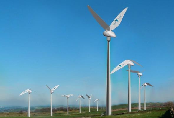 Turbina wiatrowa jak koliber. Cichsza i bezpieczna dla ptaków