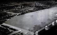 Nowojorskie lotnisko marzeń na ogromnym dachu w wizji z 1946 roku