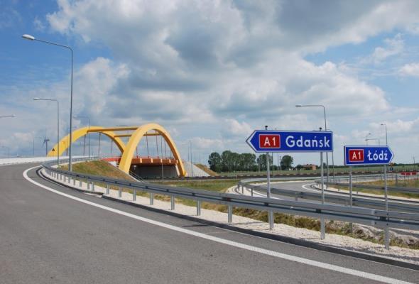 Kujawsko-pomorskie: Na A1 powstanie kładka dla pieszych