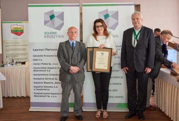 CEMEX Polska wyróżniony Branżowym Znakiem Jakości  – Solidne Kruszywa