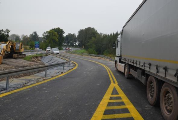 Małopolska: Siódemką koło Miechowa po moście tymczasowym