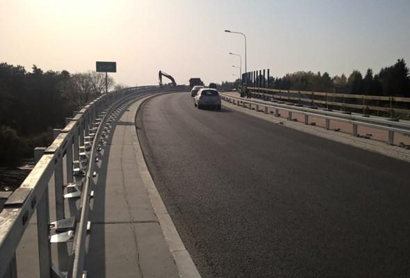 Od wtorku z Mosiny do Poznania można jechać nowym wiaduktem w Łęczycy