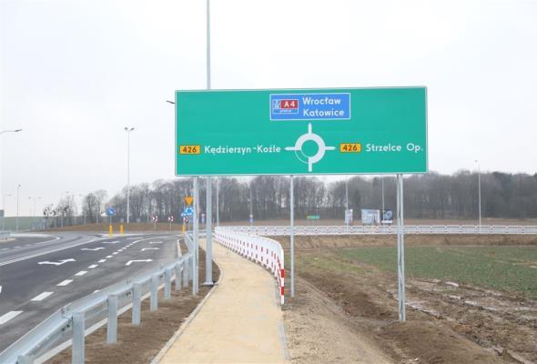 Opolskie:  Kierowcy z węzła Olszowa zjeżdżają już na nowe rondo