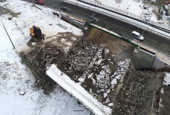 Olsztyn: Znika stary wiadukt w ciągu ul. Towarowej