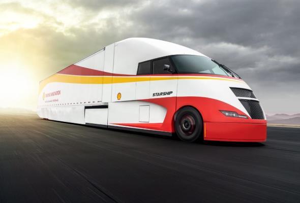 Starship – ekologiczna i ekonomiczna ciężarówka od Shell i AirFlow Truck Cimpany