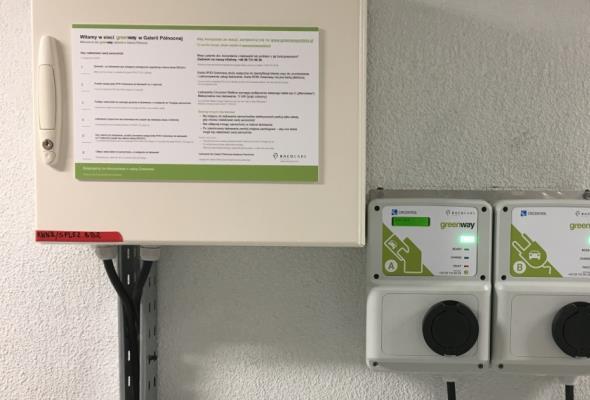 """GreenWay obsługuje stacje ładowania """"elektryków"""" w Galerii Północnej"""