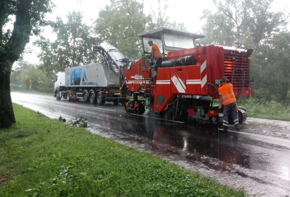 Wielkopolskie: Trwa remont DK-10 w powiecie pilskim