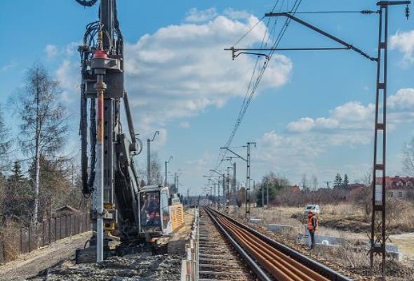 Wzmocnienie podtorza na linii kolejowej nr 133 Krzeszowice – Kraków Mydlniki