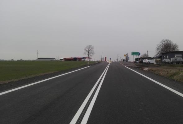 Opolskie. Fragment przebudowywanej DK-45 przejezdny