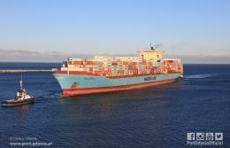 Do Portu Gdynia zawinął największy kontenerowiec w historii