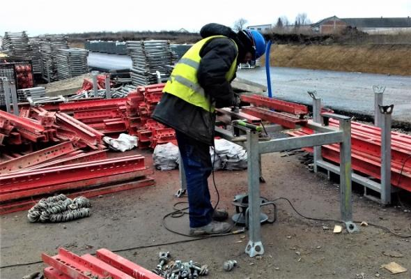 Mimo przerwy zimowej trwają prace na budowie obwodnicy Inowrocławia