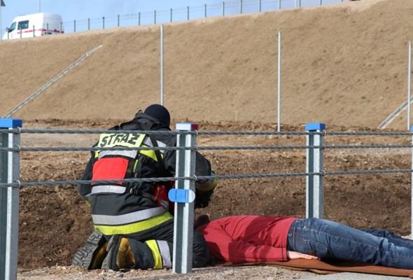 Podlaskie: Ratownicy ćwiczyli na obwodnicy Suwałk