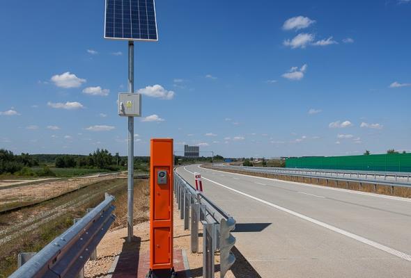 Nowy system łączności alarmowej na A1 i A4