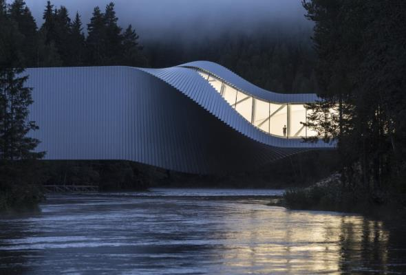 Norwegia: futurystyczny most i muzeum: The Twist
