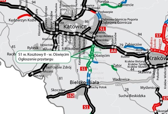 Śląsk: nowe przetargi na S1. Będzie trasa Dankowice – Oświęcim − Kosztowy