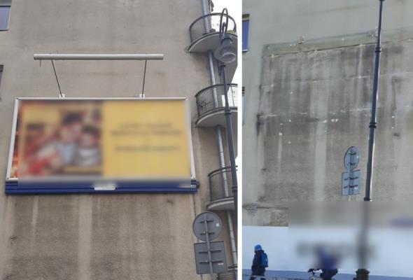 Warszawa. W grudniu ponad 100 nielegalnych obiektów w pasie drogowym