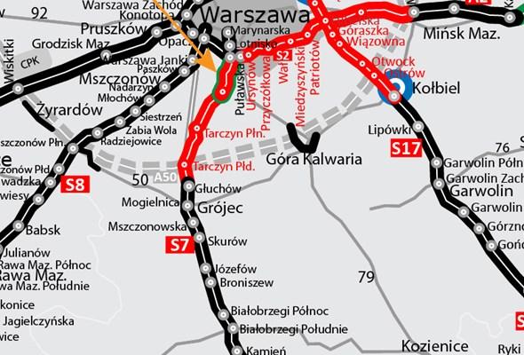 Więcej pieniędzy na budowę S7 Warszawa – Grójec