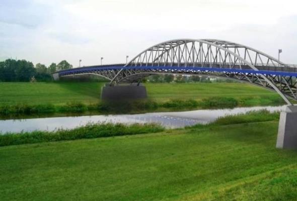 Opole. Podpory na moście przez Kanał Ulgi
