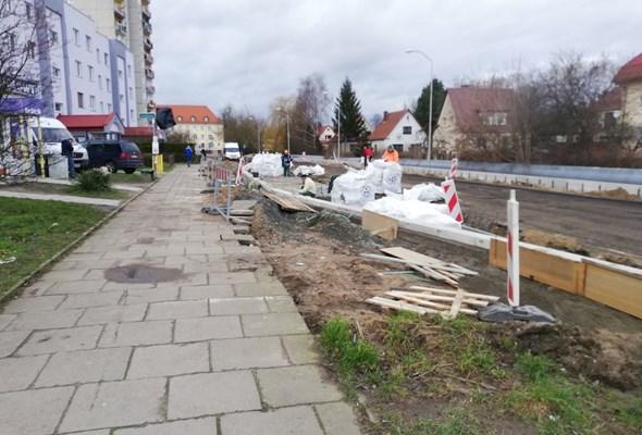 Szczecin. Frezowanie na ul. Grota Roweckiego