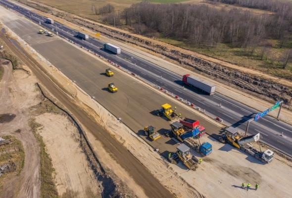 Wkrótce zaczną układać betonową nawierzchnię na A1 Tuszyn – Piotrków