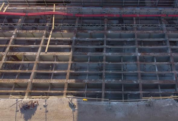 Na moście Pomorskim Północnym widać już konstrukcję stalową
