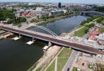 Dziś pociągi pojadą nowym mostem kolejowym nad Wisłą w Krakowie