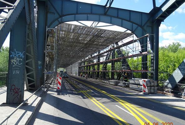 Most Piłsudskiego w Toruniu w rozbiórce