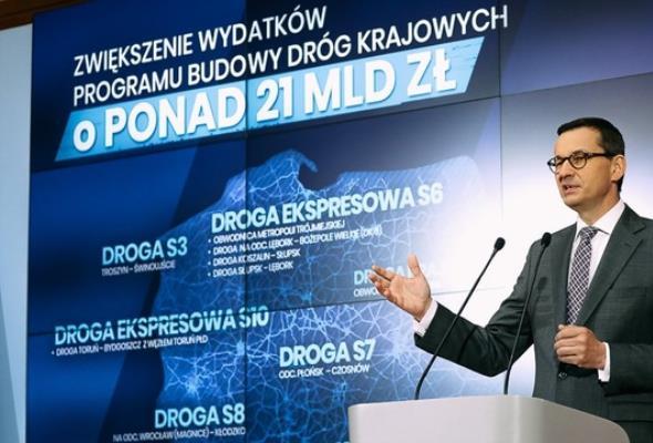 Morawiecki: Plany drogowe to szybsze wyjście z kryzysu i setki tysięcy miejsc pracy
