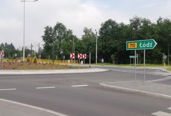 Nowe rondo na DW-710 w Konstantynowie Ł. gotowe